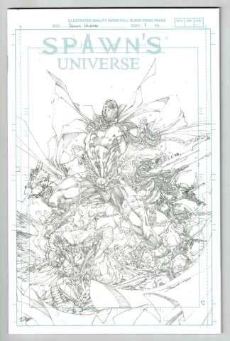 Spawn's Universe #1 1:50 Booth B&W Blue Line Sketch Variant Image 2021 VF/NM