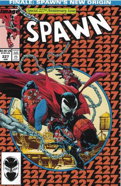 Spawn #227 Cover A McFarlane ASM #300 Homage Image 1992