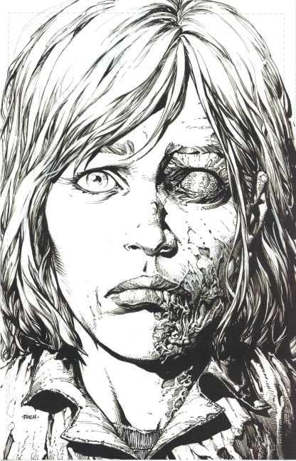 Walking Dead Deluxe #12 1:25 2nd Print Finch Sketch Variant Image 2020 Kirkman