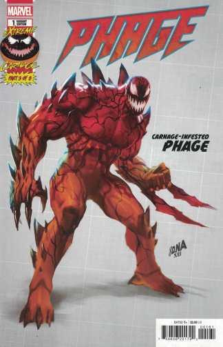 Extreme Carnage Phage #1 1:10 David Nakayama Design Variant Marvel 2021