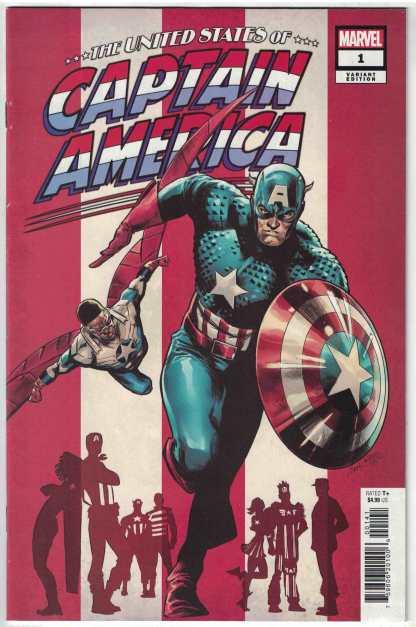 United States of Captain America #1 1:50 Carnero Variant Marvel 2021 VF/NM