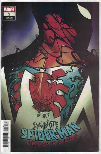 Symbiote Spider-Man Crossroads #1 1:25 Mike Del Mundo Variant Marvel 2021 NM-
