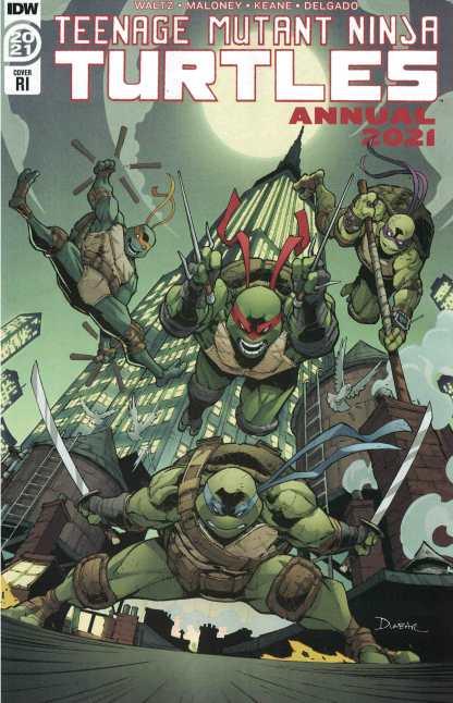 Teenage Mutant Ninja Turtles Annual 2021 1:10 Max Dunbar Variant IDW 2011