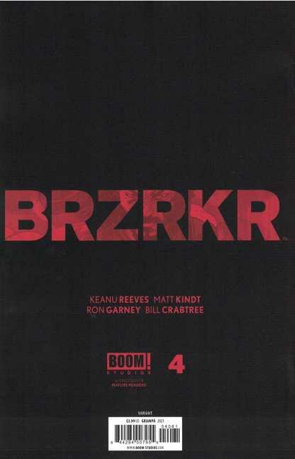Brzrkr #4 1:25 Rafael Grampá Virgin Variant Boom 2021 Keanu Reeves