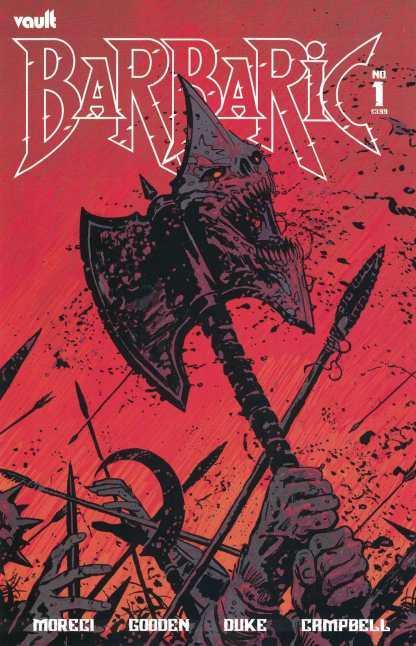 Barbaric #1 Josh Hixson B CVR 1st Print Vault 2021