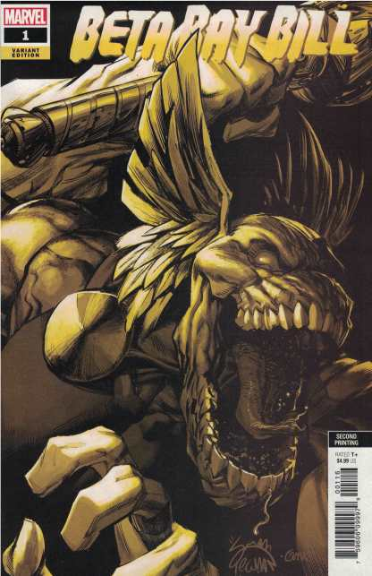 Beta Ray Bill #1 1:25 Ryan Stegman 2nd Print Gold Variant Marvel 2021