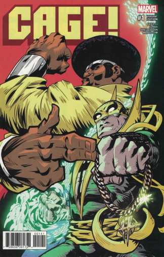 Cage #1 Damion Scott Run the Jewels Variant NOW Marvel 2016 Power Man Iron Fist