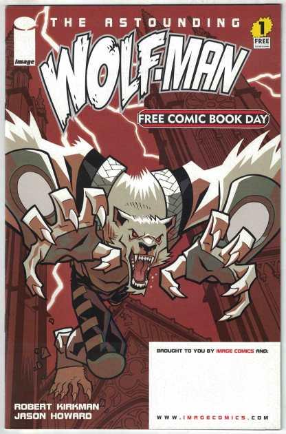 Astounding Wolf-Man #1 Free Comic Book Day FCBD Image 2007 Kirkman VF/NM