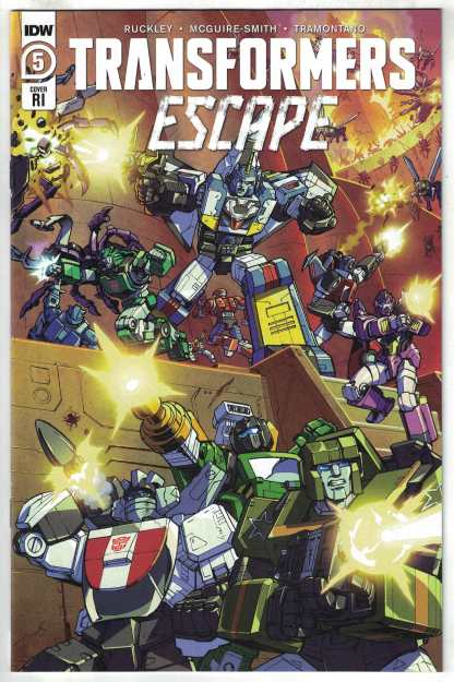 Transformers Escape #5 1:10 Red Powell Variant IDW 2020 VF/NM