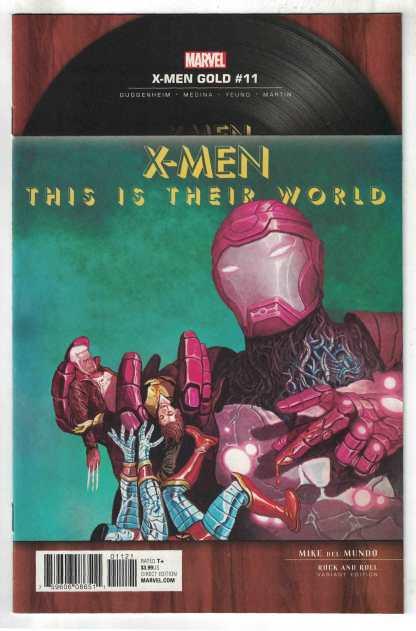 X-Men Gold #11 1:5 Del Mundo Rock N Roll Variant Queen Marvel 2017 VF/NM