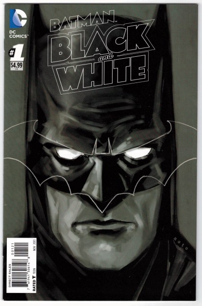 Batman Black and White #1 1:25 Phil Noto B&W Sketch Variant DC 2013 VF/NM