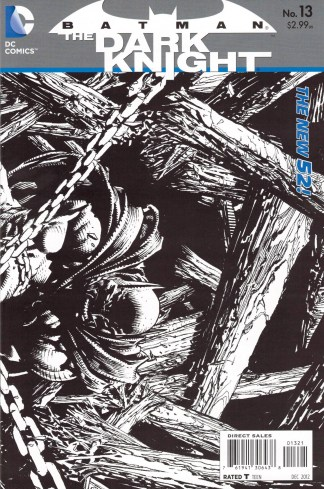 Batman The Dark Knight #13 1:25 David Finch Sketch Variant DC 2011