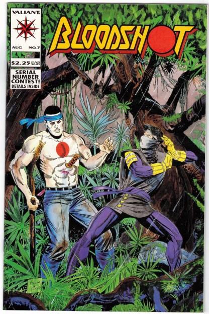 Bloodshot #7 First Print Cover A Valiant 1993 1st Full Ninjak VF/NM