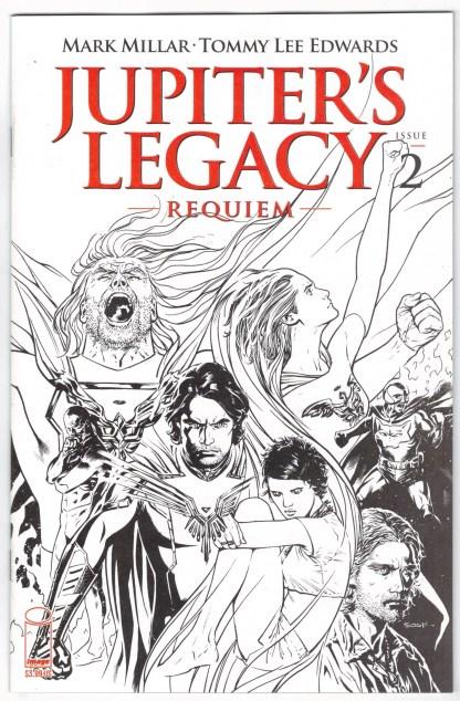 Jupiter's Legacy Requiem #2 Ryan Sook B&W Variant Image 2021 VF/NM