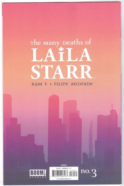 Many Deaths of Laila Starr #3 1:25 Mirka Andolfo Variant Boom 2021 Ram V VF/NM