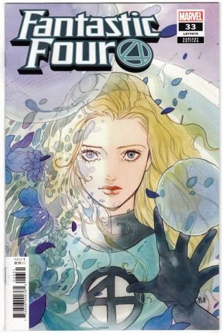 Fantastic Four #33 1:50 Peach Momoko Variant Marvel 2018 Invisible Woman VF/NM