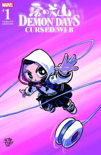 Demon Days Cursed Web #1 Exclusive Skottie Young Spider-Gwen Variant Marvel 2021