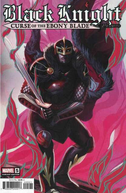 Black Knight Curse of the Ebony Blade #5 1:25 Stephanie Hans Variant Marvel 2021