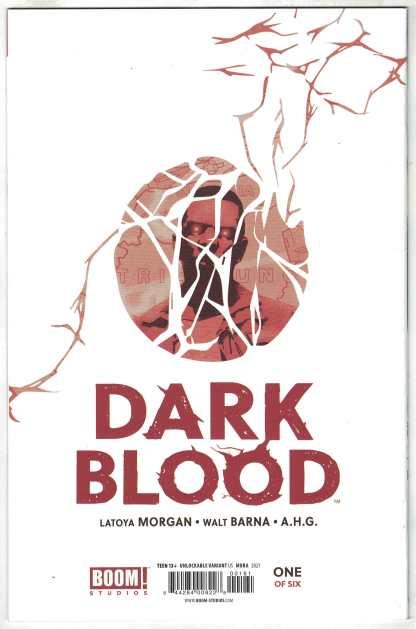 Dark Blood #1 Dan Mora B&W Virgin Unlockable Variant Boom 2021 VF/NM