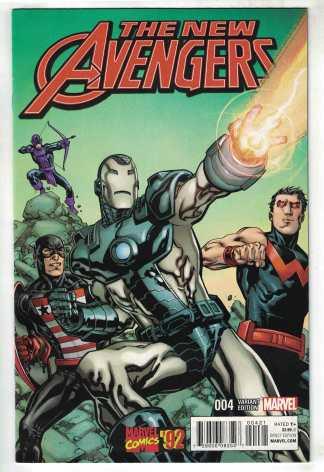 New Avengers #4 1:20 Raney Marvel 92 Variant ANAD 2015 West Coast VF/NM