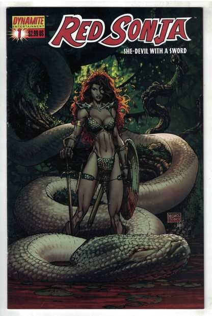Red Sonja #1 Michael Turner Cover A Dynamite 2005 VF/NM