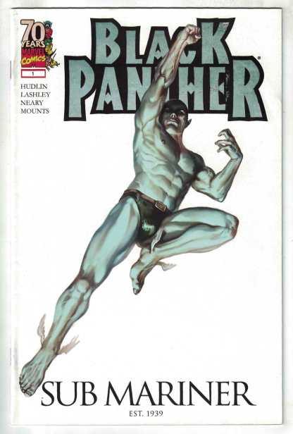 Black Panther #1 70th Variant Djurdjevic Sub Mariner Marvel 2009 VF/NM