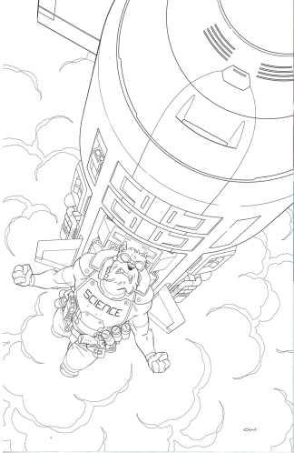 Skybound X #3 1:10 Cory Walker Virgin Sketch B&W Variant Image 2021