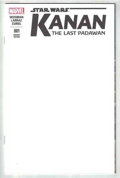 Kanan the Last Padawan #1 Blank Variant Star Wars Marvel 2015 NM-