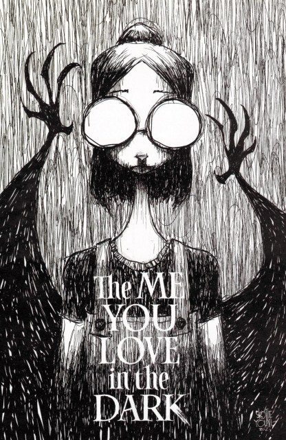 Me You Love in the Dark #1 1:25 Skottie Young B&W Variant Image 2021