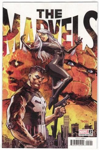 The Marvels #2 1:25 Panosian Variant Black Cat Punisher Marvel 2021 Busiek VF/NM
