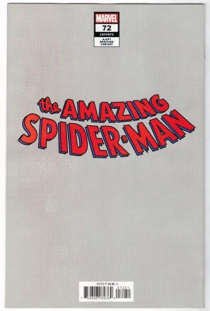Amazing Spider-Man #72 1:50 InHyuk Lee AAPI Heritage Virgin Variant VF/NM
