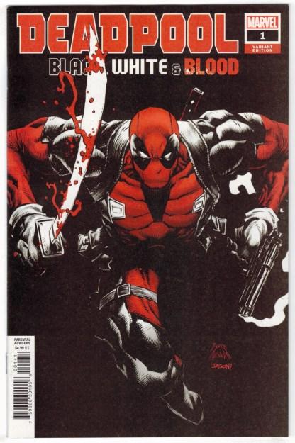 Deadpool Black White & Blood #1 1:25 Stegman Variant Marvel 2021 VF/NM