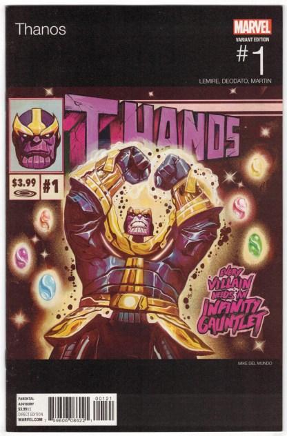 Thanos #1 Mike Del Mundo Hip Hop Variant Lemire Marvel 2017 VF/NM
