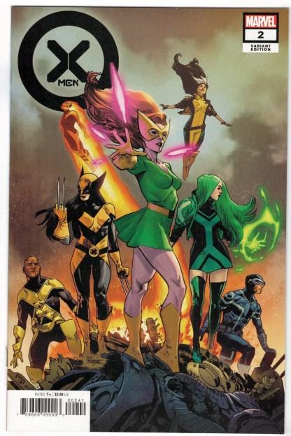 X-Men #2 1:25 Mahmud Asrar Variant Marvel 2021 Jean Grey Wolverine Cyclops VF/NM