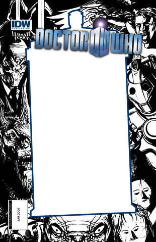 Doctor Who #1 CP Wilson III/ Strutz Blank Sketch 11th TARDIS Frame Variant IDW