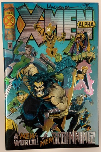 X-Men Alpha #1 SIGNED by Joe Madureira DF with COA 475/1500 Marvel 1995