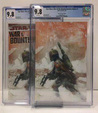 Star Wars War of the Bounty Hunters Alpha #1 Edwards Variant/ Virgin Set CGC 9.8