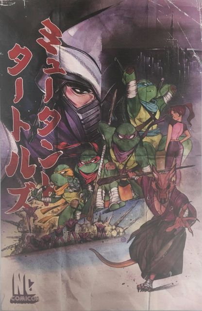 Teenage Mutant Ninja Turtles #100 NC Comicon Ex Peach Momoko 11x17 Art Print
