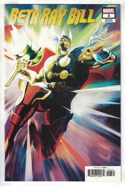 Beta Ray Bill #3 1:25 Mike Del Mundo Variant Argent Star Marvel 2021 VF/NM