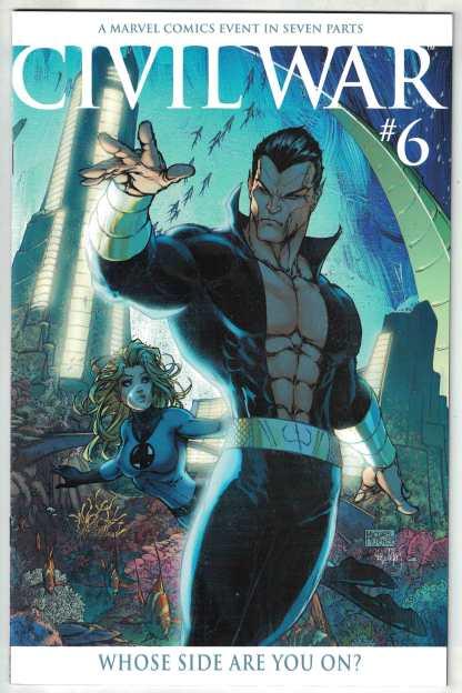 Civil War #6 1:15 Michael Turner Namor Variant Marvel 2006 Sub-Mariner VF/NM