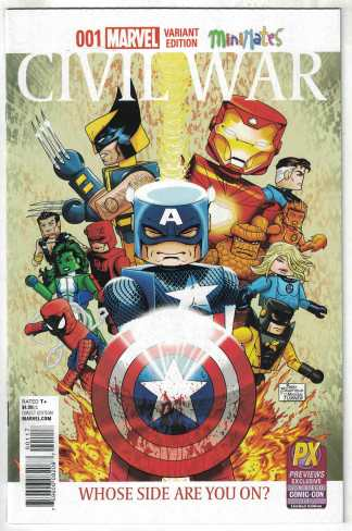 Civil War Secret Wars #1 Bradfield PX Minimates Variant Marvel 2015 VF/NM