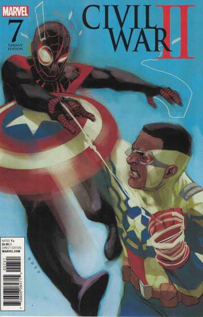Civil War II #7 1:10 Noto Variant Miles Morales Captain America Marvel 2016
