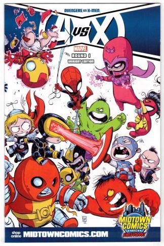 Avengers vs X-Men #1 Skottie Young Midtown Comics Wraparound Variant 2012 VF/NM