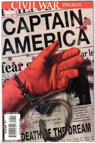 Captain America #25 Death of Cap Marvel 2004 Civil War Brubaker Epting VF/NM