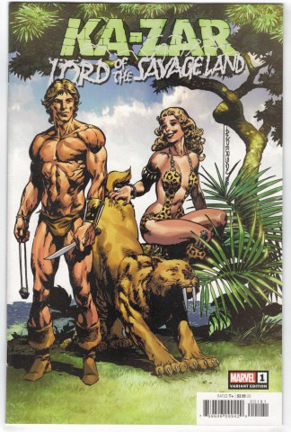 Ka-Zar Lord of the Savage Land #1 1:50 Brent Anderson Variant Marvel 2019 VF/NM