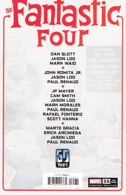 Fantastic Four #35 1:25 Paul Renaud Variant Marvel 2018 Legacy #680