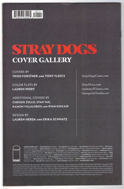 Stray Dogs Cover Gallery Thank You One-Per-Store Variant #1 Image 2021 VF/NM