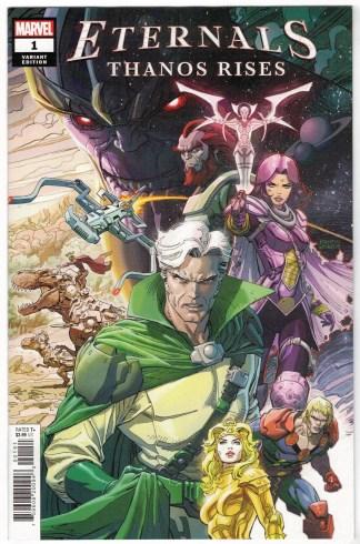 Eternals Thanos Rises #1 1:25 Dustin Weaver Variant Marvel 2021 VF/NM