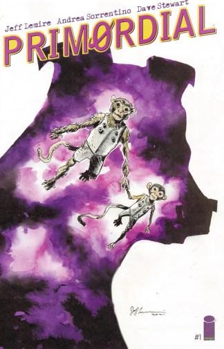 Primordial #1 1:100 Jeff Lemire Variant Image 2021 Sorrentino
