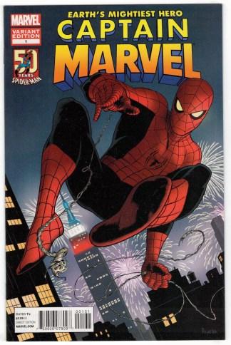 Captain Marvel #1 1st Print Paolo Rivera Avenging Spider-Man Variant 2012 VF/NM